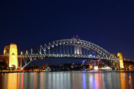 nsw: Sydney Harbour Bridge - NSW - Night Shot
