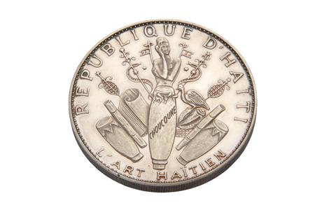 twenty five: Veinte cinco gourdes moneda de Hait�