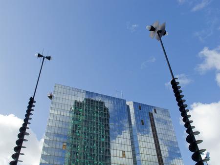 la defense: La Defense skyscraper and signals 8085, Paris, France, 2012 Editorial