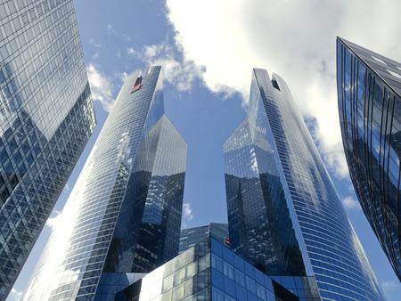 la defense: La Defense skyscrapers 8233, Paris, France, 2012 Editorial