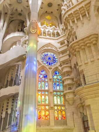 familia: Stained Glass windows in Sagrada Familia in Barcelona 0523