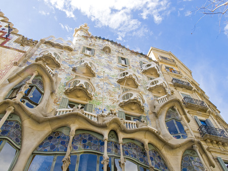 barcelona spain: Landmark by Gaudi in Barcelona 0611 Editorial