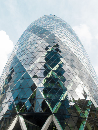 LONDON, ENGLAND - OCTOBER 2014: The City of London with it´s new distinguished buildings as landmarks is the financial center of Europe. Editorial