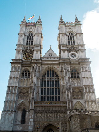 middleton: LONDON, ENGLAND - OCTOBER 2014: Famous Westminster Abbey was the chosen church for  the Royal wedding of Prince William and Kate Middleton.