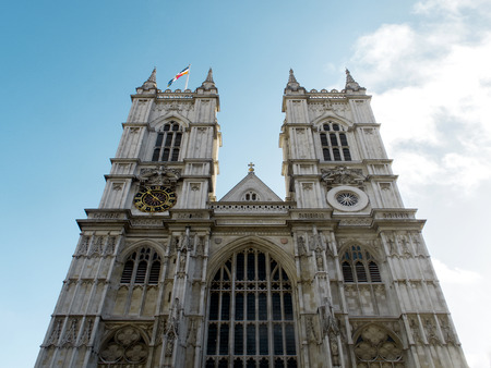 LONDON, ENGLAND - OCTOBER 2014: Famous Westminster Abbey was the chosen church for  the Royal wedding of Prince William and Kate Middleton.