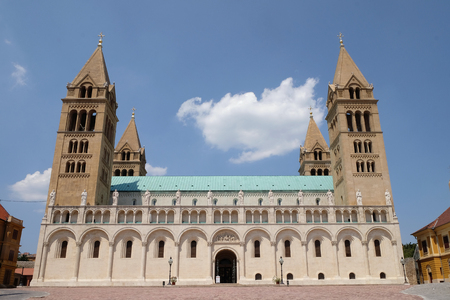 PECS, HUNGARY - JULY 2015: St. Peter and St. Paul Basilica in Pecs Hungary