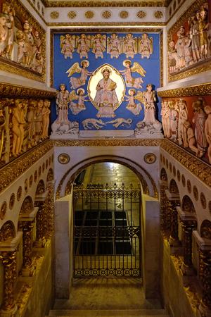 pecs: PECS, HUNGARY - JULY 2016: Interior of St. Peter and St. Paul Basilica in Pecs Hungary