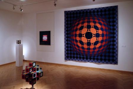 pecs: PECS, HUNGARY - JULY 2015: Artwork at the Vasarely Museum in Pecs Hungary