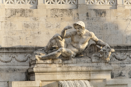 victor: ROME, ITALY - SEPTEMBER 2016: Magnificent Victor Emmanuel II Monument Editorial