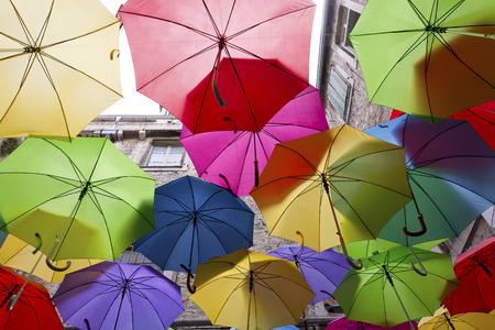 Colorful umbrellas Редакционное
