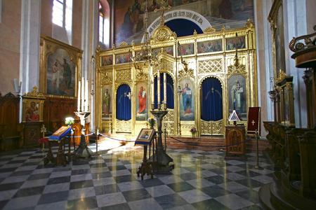 DUBROVNIK, CROATIA - NOVEMBER 2015 Church of the Holy Annunciation in Dubrovnik