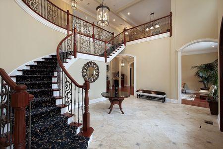 Foyer in Luxury Home photo