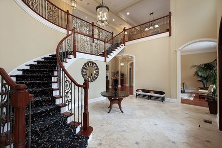 vestibule: Foyer in Luxury Home Stock Photo