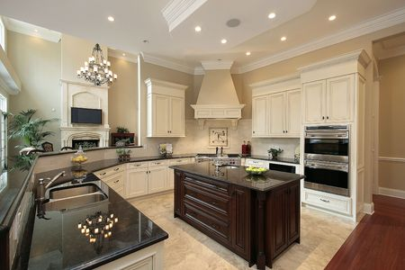 Kitchen in contemporary home photo