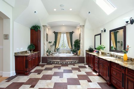 Master bath in luxury home with columns Stock Photo - 6726941