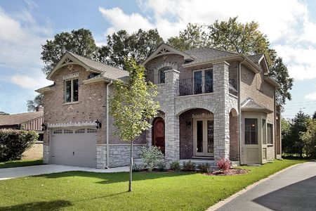 Luxury brick home with arched entry Stock Photo - 6733371
