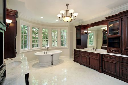 Master bath with tub in new construction home Stock Photo - 6732427