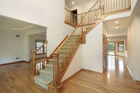 Foyer in new construction home with dining room view Stock Photo - 6732952