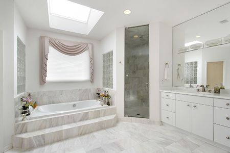 Master bath in luxury home with marble tub Stock Photo - 6732416
