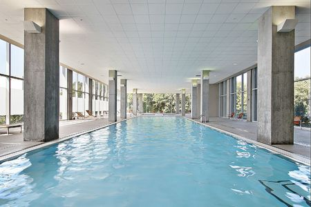 Indoor swiming pool in condominium building