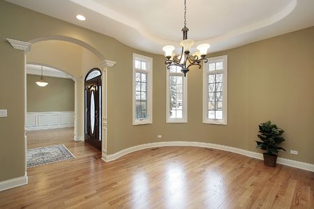 Dining room with foyer view in new construction home Stock Photo - 6732451