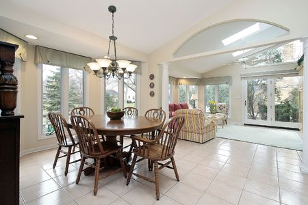 Eating area and sun room in luxuxry home Stock Photo - 6733199