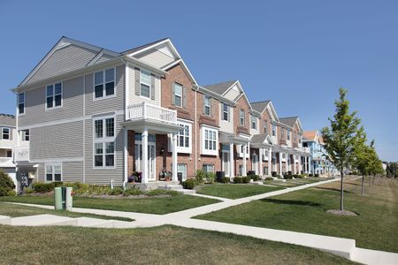 townhomes: Brick townhouses and new construction townhomes in suburban development