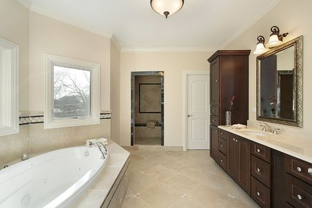 Master bath with tub in new construction home Stock Photo - 6733506