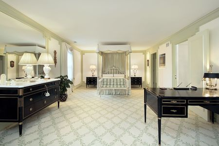 Traditional large master bedroom in luxury home Stock Photo - 6733374
