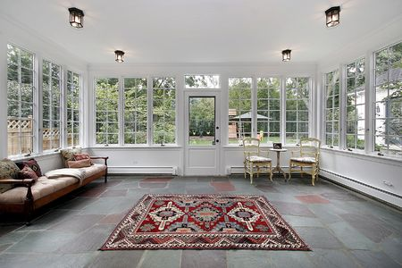 Porch in suburban home with bluestone tile Stock Photo - 6738138