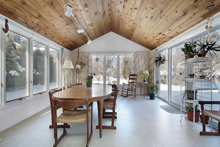 Porch in suburban home with wood ceiling Stock Photo - 6738141