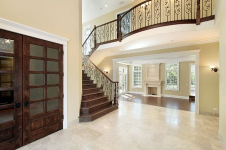 Foyer in new construction home with balcony Stock Photo - 6738892
