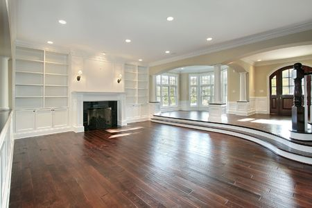 hardwood: Living room and foyer in new construction house