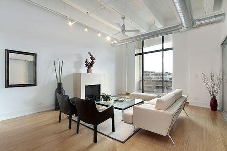 Living room in condominium with balcony view Stock Photo - 6738323