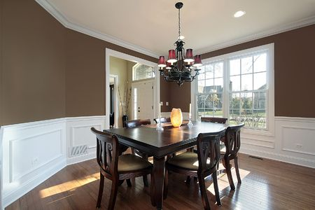 Dining room in luxury home with foyer view Stock Photo - 6738592