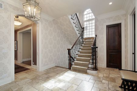 Foyer in luxury home with second story window Stock Photo - 6738383