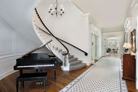 Foyer in luxury home photo