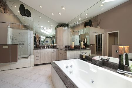 Master bath in luxury home with large tub Stock Photo - 6738453