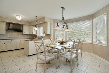 eating area: Kitchen in suburban home with eating area