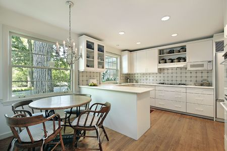 Kitchen in suburban home with eating area Stock Photo - 6739149