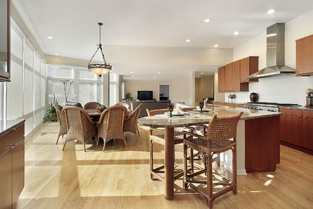 Kitchen in luxury home with eating area Stock Photo - 6738794