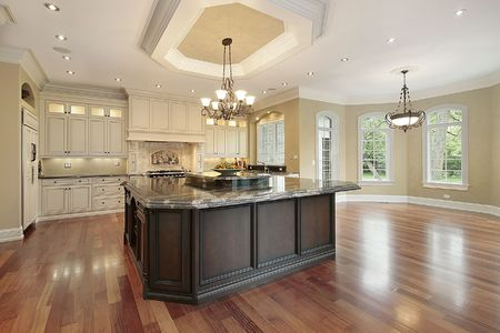 Kitchen in new construction home with eating area Stock Photo - 6738508