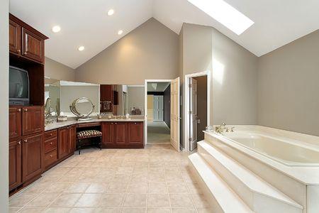 Large master bath with step up tub Stock Photo - 6738258