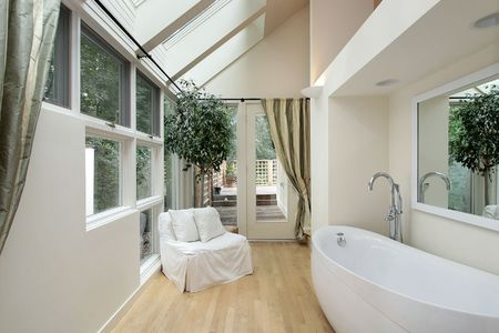 Master bath in luxury home with skylights Stock Photo - 6738228