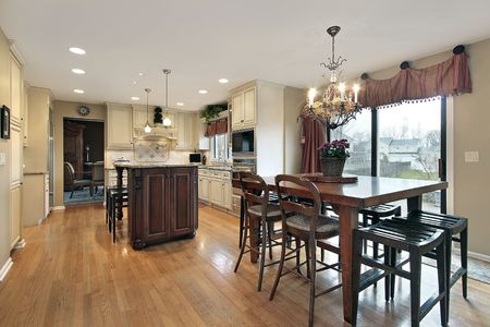 Kitchen in luxury home with eating area Stock Photo - 6740300