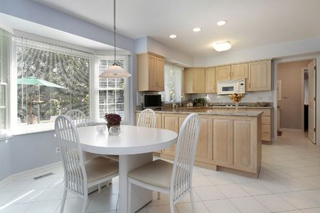 Kitchen in suburban home with eating area Stock Photo - 6739664