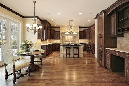 cuisine de luxe: Cuisine � domicile avec alimentation secteur de nouvelle construction