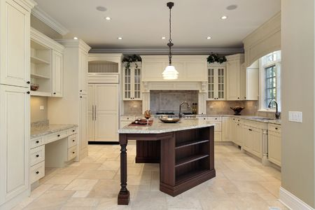 cabinetry: Kitchen in new construction home with light cabinetry