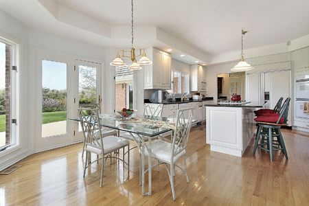 Kitchen in luxury home with eating area Stock Photo - 6739659