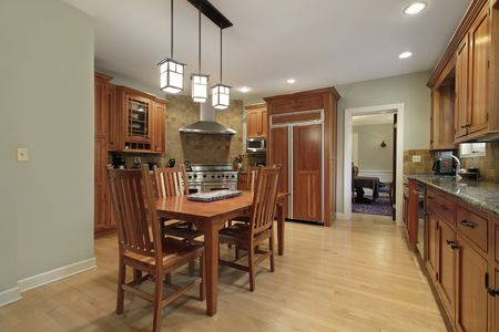 Kitchen in luxury home with eating area Stock Photo - 6740569